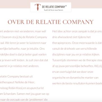 websites - de Relatie Company