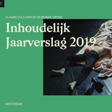 Vlaams Cultuurhuis de Brakke Grond - digitaal jaarverslag 2019